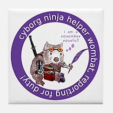 cyborg_ninja_wombat_logo3 Tile Coaster