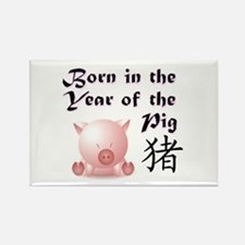 Year of the Pig Rectangle Magnet