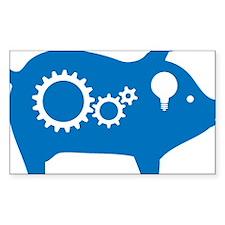 Thinking Pig Logo (no farts) Decal