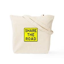 Bike Sign Share the Road Tote Bag
