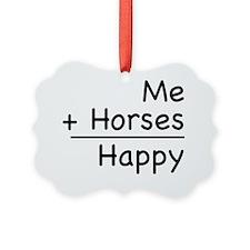 Happy Horses shirt Ornament