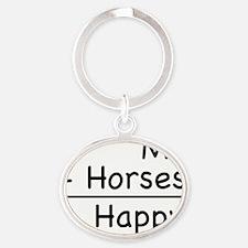 Happy Horses shirt Oval Keychain