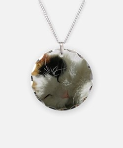 Sleeping Kitty Necklace