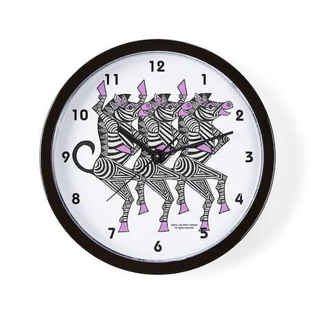 Dancing Zebras Wall Clock