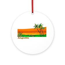 Unique Anguilla Ornament (Round)