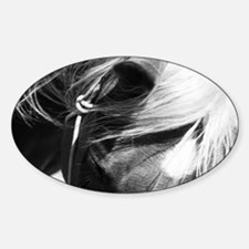 Horses Face Sticker (Oval)