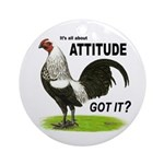 It's About Attitude Ornament (Round)