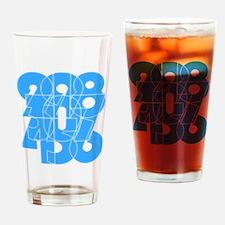 sky-bluelbl-wt Drinking Glass