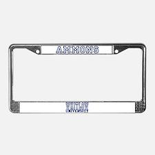 AMMONS University License Plate Frame