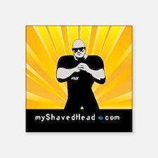 "myshavedheadlogo1 Square Sticker 3"" x 3"""