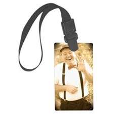 Happy Waving Luggage Tag