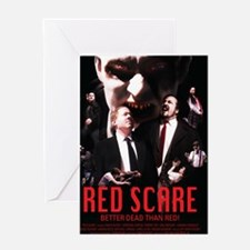 Red Scare Poster Greeting Card
