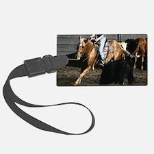 Cutting Horse Luggage Tag