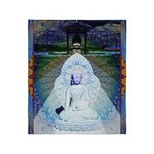 New-Dawn-Buddha-Mandala-Art-Poster Throw Blanket