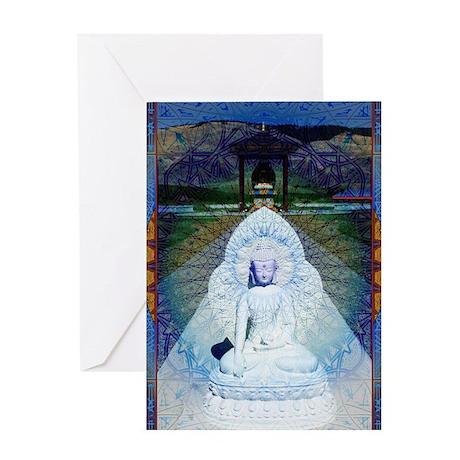 New-Dawn-Buddha-Mandala-Art-Poster Greeting Card