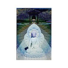 New-Dawn-Buddha-Mandala-Art-Poste Rectangle Magnet