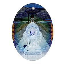 New-Dawn-Buddha-Mandala-Art-Poster Oval Ornament