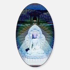 New-Dawn-Buddha-Mandala-Art-Poster Sticker (Oval)