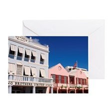 Hamilton, Bermuda: Colorful building Greeting Card