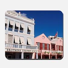 Hamilton, Bermuda: Colorful buildings on Mousepad