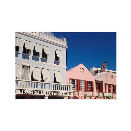 Hamilton, Bermuda: Colorful build Rectangle Magnet