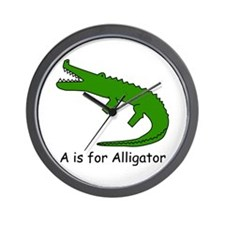 A is for Alligator Wall Clock