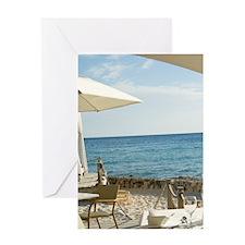 Viva Cafe restaurant Greeting Card