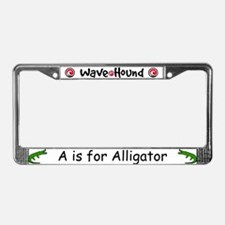 A is for Alligator License Plate Frame