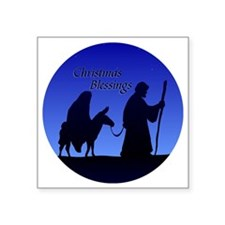 "Christmas Blessings Square Sticker 3"" x 3"""