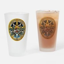 Yule Pentacle Drinking Glass