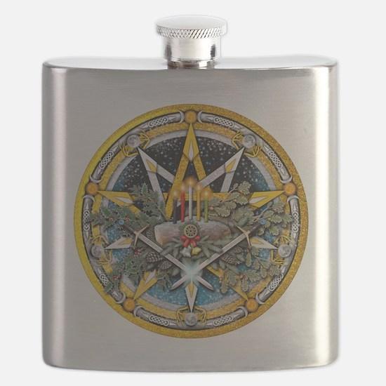 Yule Pentacle Flask
