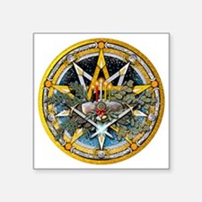 "Yule Pentacle Square Sticker 3"" x 3"""
