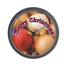 Glass Christmas Ornaments Wall Clock