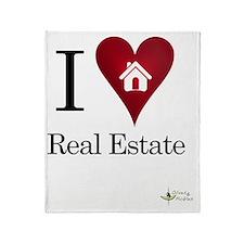 I Heart Real Estate iPad Throw Blanket