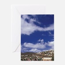 Martinique; Case Pilote Aerial view  Greeting Card