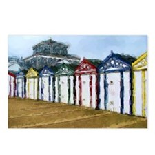 Beach Huts WC Sketch Postcards (Package of 8)