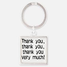 thankyouthankyou Square Keychain