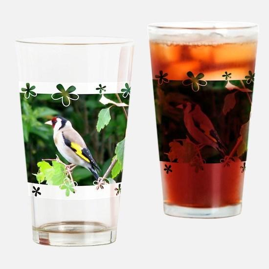 Goldfinch3 Drinking Glass