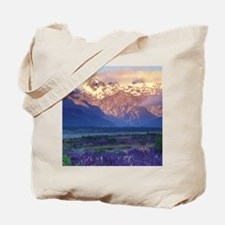 Lupine and the Main Divide, Arthur's Pass Tote Bag