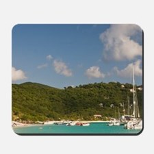 White Bay. Popular moorings for bareboat Mousepad