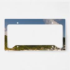 White Bay. Popular moorings f License Plate Holder