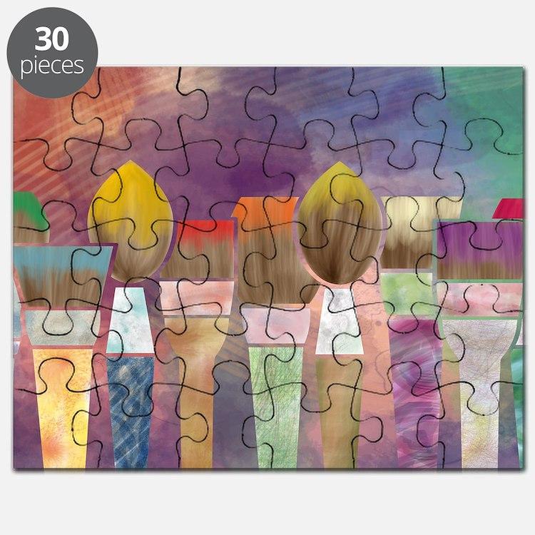 Paintbrushes_laptopskin Puzzle