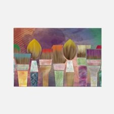 Paintbrushes_laptopskin Rectangle Magnet