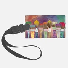Paintbrushes_laptopskin Luggage Tag