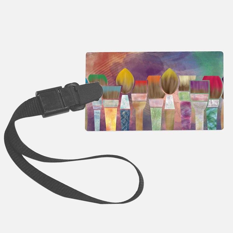 Paintbrushes_laptopskin Luggage Tag