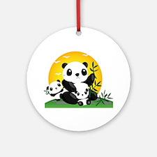 Panda Family Ornament (Round)