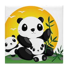 Panda Family Tile Coaster