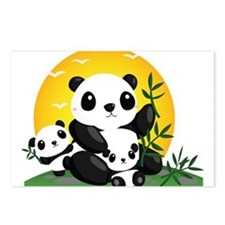 Panda Family Postcards (Package of 8)