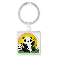 Panda Family Keychains