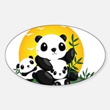 Panda Family Decal
